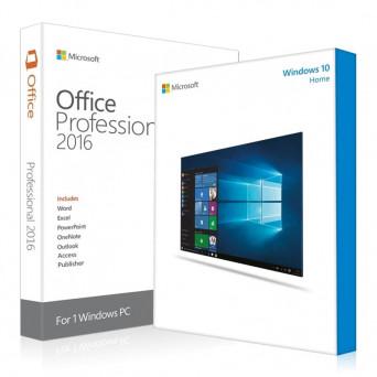 Windows 10 Home + Office 2016 Pro Plus электронные лицензии