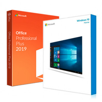 Microsoft Windows 10 Home + Microsoft Office 2019 Pro Plus