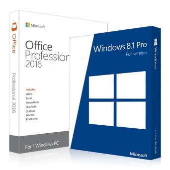 Windows 8.1 Professional + Office 2016 Pro Plus электронные лицензии